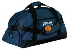 Wilmington Basketball Navy Duffel Bag
