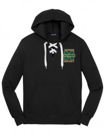 Lace Hooded Sweatshirt w/Embroided Left Chest Logo