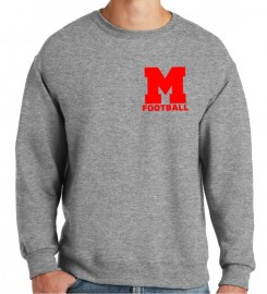 Melrose Football Jerzee Crewneck Sweatshirt w/Melrose Football Logo