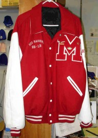 Melrose Football Wool Letterman Jacket w/Leather Sleeves