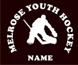 Melrose YH Goalie Window Decal