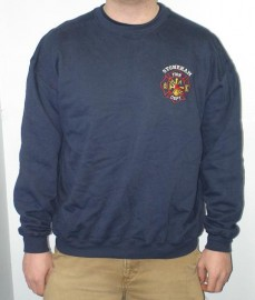 SFD Navy Crewneck Sweatshirt w/Embroidered Left Chest Logo